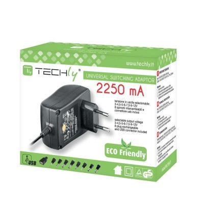 Stabilized Adjustable Power Supply 2250mA - Techly - IPW-NTS2250G-1