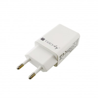 USB-A Wall Charger 5V 2.4A for Smartphone or Tablet - Techly - IPW-USB-24WH-1