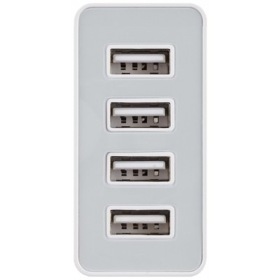 4 USB power charger, 8200 mA, White - Techly - IPW-USB-4P82-1