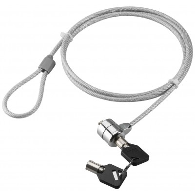 Steel Safety Cable with Notebook Padlock and two Keys - Techly - IQ-LOK-08-KT-1