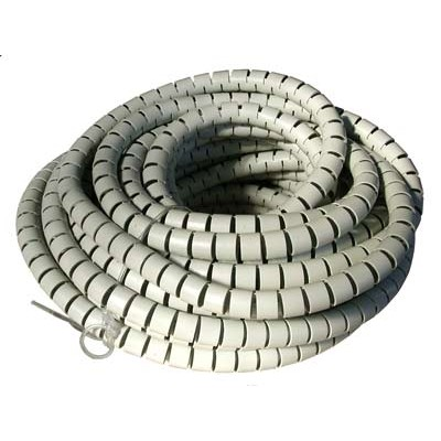 Spiral Cable Sheath Diameter 25mm Length 20m Grey - Techly - ISWT-CAN2-20-1
