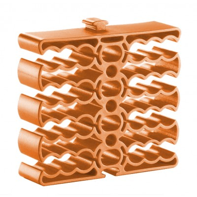 Cable Clip for 24 Cables Orange - Techly - ISWT-PETCABLEOR-1