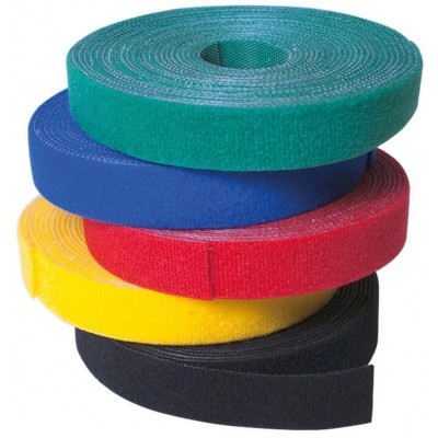 Velcro Roll Cable Management Length 10m Width 20mm Black - Techly - ISWT-ROLL-2010BKTY-2