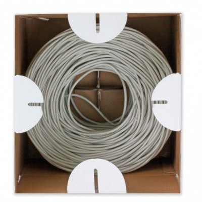F/UTP Cable Cat.5E CCA 305m Solid Outdoor Black - Techly Professional - ITP8-RIS-0305LO-4