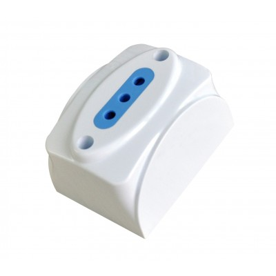 Wall socket 10A 2P+T white - Techly - IUPS-PCP-1I10A-1