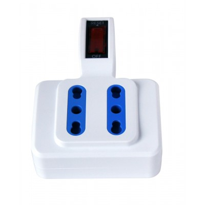 Adaptor with italian 10A plug and 4 dual-size sockets - Techly - IUPS-PCP-4ISP10-2
