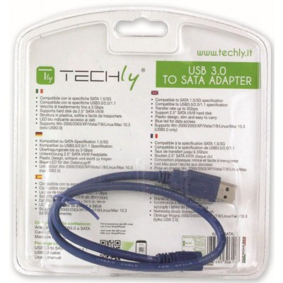 USB 3.0 Adapter to Serial ATA - Techly - IUSB3-SATA2-4