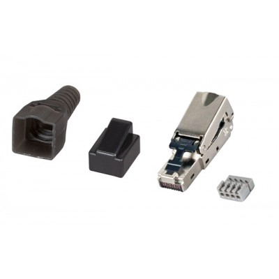 STP Cat.6A RJ45 Modular Plug Toolless - Techly Professional - IWP-8P8C-CAT6AS-1