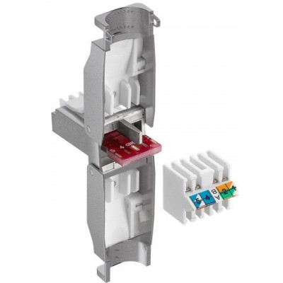 Tool-free RJ45 network connector CAT 6 STP shielded - Techly Professional - IWP-8P8C-TLS6T-1