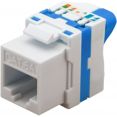 CAT 6a KeyStone RJ45 Jack UTP unshielded Tooless - Techly Professional - IWP-MD C6A/UROTT-1