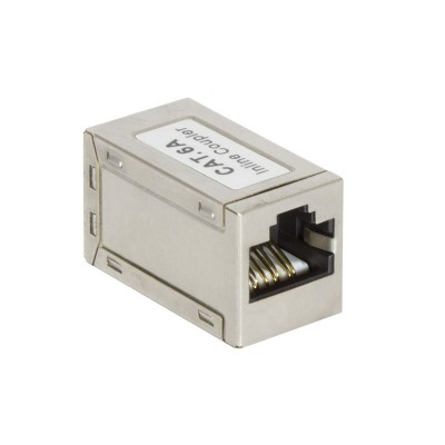Inline Coupler 1:1 Cat.6A 10GE RJ45 STP, metal housing, ultra slim - Techly Professional - IWP-MD F/F-C6AT-2