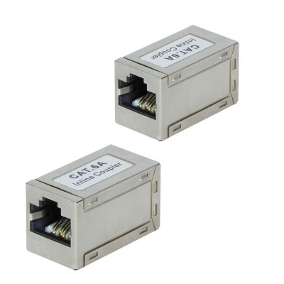 Inline Coupler 1:1 Cat.6A 10GE RJ45 STP, metal housing, ultra slim - Techly Professional - IWP-MD F/F-C6AT-3