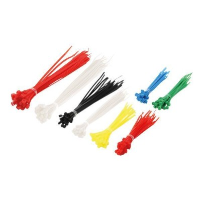 Kit Multicolor Nylon Cable Ties 200 pcs - Techly - ISWT-SET-CL-2