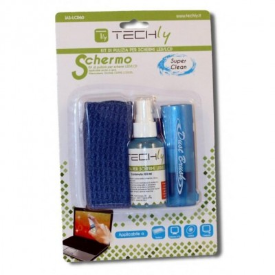 Cleaning Kit for LCD Screens 60 ML - Techly - IAS-LCD60-1