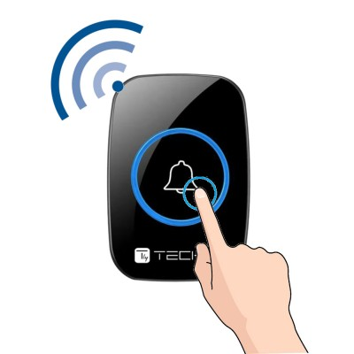 Wireless Doorbell Kit up to 300m with Remote Control - Techly - I-BELL-RING04-4