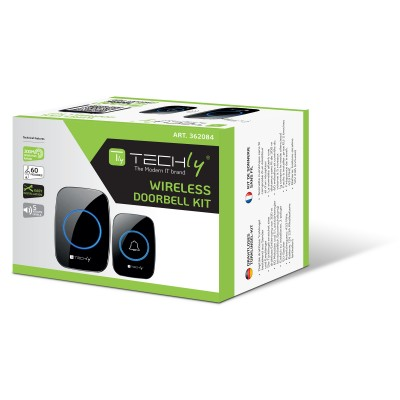 Wireless Doorbell Kit up to 300m with Remote Control - Techly - I-BELL-RING04-1