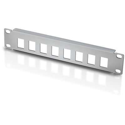 "Patch panel 10"" 1U 8 places to Keystone Jacks Grey - Techly Professional - I-CASE M10-KSP-0"