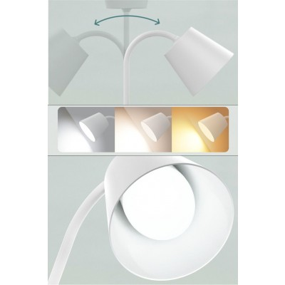 Vintage LED Table Lamp White Class A - Techly - I-LAMP-DSK4-8