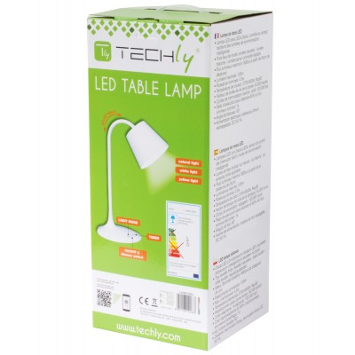 Vintage LED Table Lamp White Class A - Techly - I-LAMP-DSK4-3