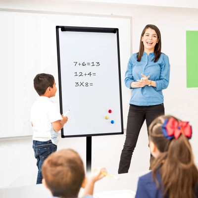 Whiteboard Flipchart with Pivoting Wheels 70 x 100 cm - Techly - ICA-FP 710-3