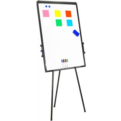 Magnetic Whiteboard with Tripod Easel Adjustable 60 x 90 cm - Techly - ICA-FP 602-1