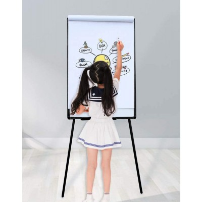 Magnetic Whiteboard with Tripod Easel Adjustable 60 x 90 cm - Techly - ICA-FP 602-3