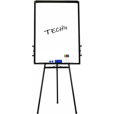 Magnetic Whiteboard with Tripod Easel Adjustable 60 x 90 cm - Techly - ICA-FP 602-0