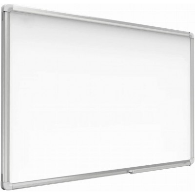 White Lacquered Magnetic Whiteboard Dry Erase 90x180 cm - Techly - ICA-WH 106-1