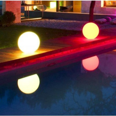 Decorative Multicolor LED Lamp Medium Sphere  - Techly - I-LED BALL-M-6