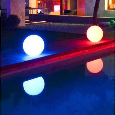 Decorative Multicolor LED Lamp Medium Sphere  - Techly - I-LED BALL-M-9