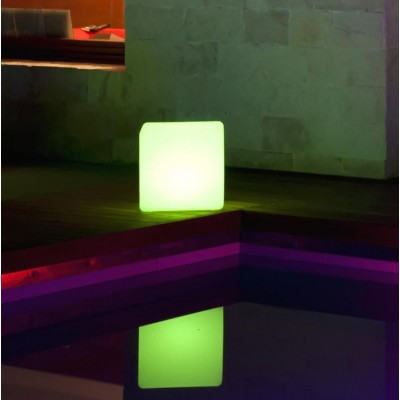 Outdoor LED Lamp Furniture - Cube - Techly - I-LED CUBE-8