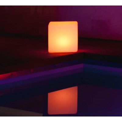 Outdoor LED Lamp Furniture - Cube - Techly - I-LED CUBE-4