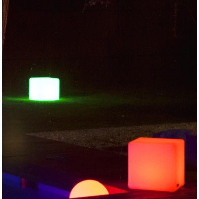 Outdoor LED Lamp Furniture - Cube - Techly - I-LED CUBE-9