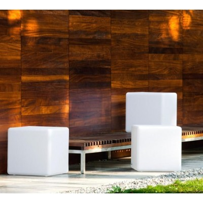 Outdoor LED Lamp Furniture - Cube - Techly - I-LED CUBE-3