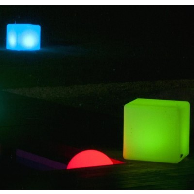 Outdoor LED Lamp Furniture - Cube - Techly - I-LED CUBE-7