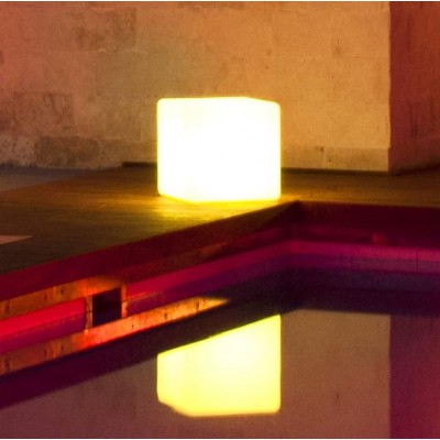 Outdoor LED Lamp Furniture - Cube - Techly - I-LED CUBE-1