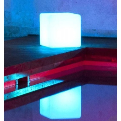 Outdoor LED Lamp Furniture - Cube - Techly - I-LED CUBE-2