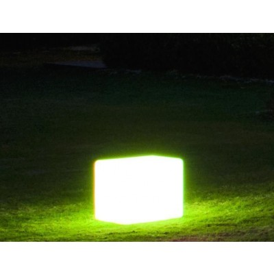 Outdoor LED Lamp Furniture - Cube - Techly - I-LED CUBE-5