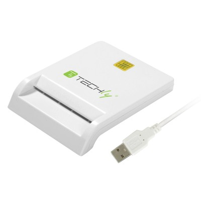 Compact Smart Card Reader/Writer USB2.0 White - Techly - I-CARD CAM-USB2TY-1