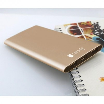 Power Bank Battery Charger Slim Smartphone Tablet 5000mAh USB Gold - Techly - I-CHARGE-5000LITY-6