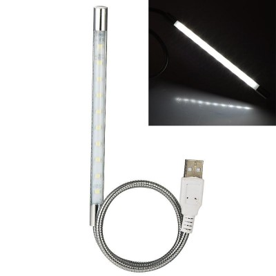 USB Flexible Lamp 10LED 40cm Dimmable for Notebook, Silver - Techly - IUSB-LIGHT10-2