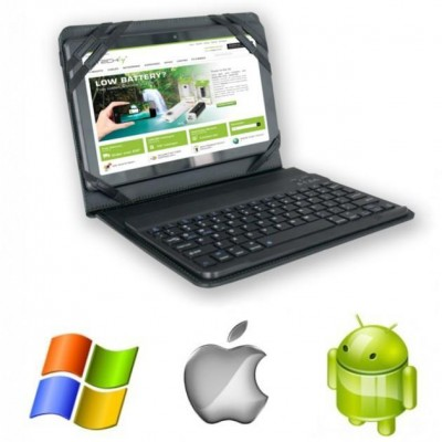 """Case with Removable Bluetooth Keyboard 3.0 for Tablet 9.7""""/10."""" - Techly - ICTB1001-8"""