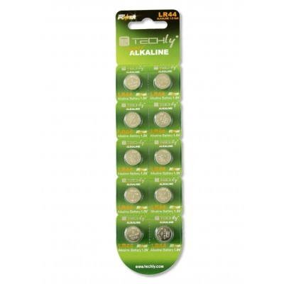 Button Battery AG13 LR44 A76 Alkaline GP76A 357 (set 10 pcs) - Techly - IBT-KLR44-1