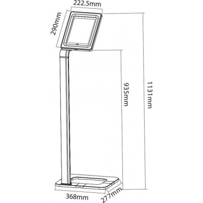 "Floor Stand with Security Key for iPad/Tablet 9.7""-10.1"" - Techly Np - ICA-TBL 1501-2"
