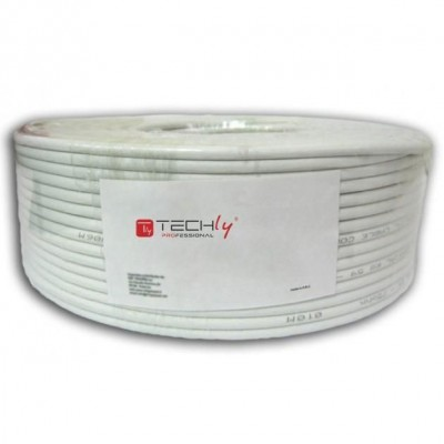 Cable U/UTP, 4 pairs, Copper Cat.6 100m roll Solid Grey - Techly Professional - ITP6-UTP-IC-100H-1