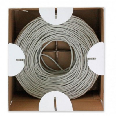 Cable U/UTP, 4 pairs, Cat.6 copper 305m Roll Solid Grey - Techly Professional - ITP6-UTP-ICH-3