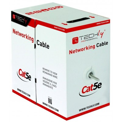 U/UTP Cable Cat.5E CCA 305m Stranded - Techly Professional - ITP8-FLU-0305-2
