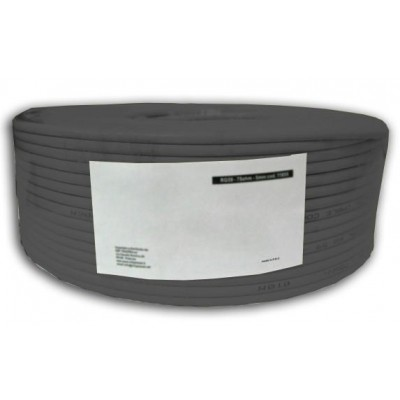 S/FTP Cable Cat.6 CCA 100m roll Solid Outdoor Black - Techly Professional - ITP9-RIS-0100LO-1