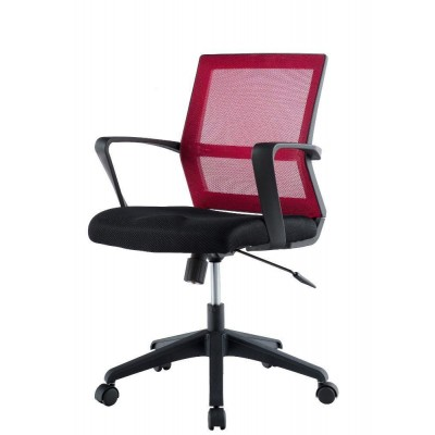 Office Chair with Middle Back Black / Bordeaux - Techly - ICA-CT MC064-1