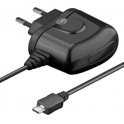 USB Charger 120-240V AC / 2A for Smartphone and Tablet Black - Techly - IPW-USB-MICRO2-1